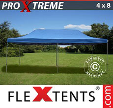 Carpa plegable FleXtents 4x8m Azul