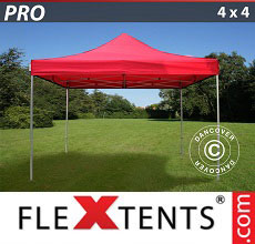 Carpa plegable FleXtents 4x4m Rojo