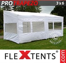 Carpa plegable FleXtents 3x6m Blanco, Incl. 4 lados