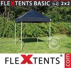 Carpa plegable FleXtents 2x2m Negro