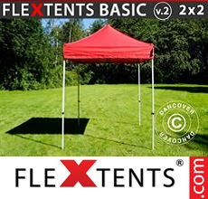 Carpa plegable FleXtents 2x2m Rojo