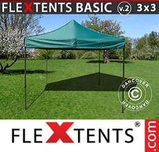 Carpa plegable FleXtents 3x3m Verde