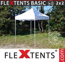 Carpa plegable FleXtents 2x2m Blanco