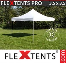Carpa plegable FleXtents 3,5x3,5m Blanco