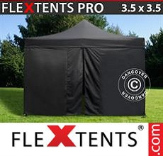 Carpa plegable FleXtents 3,5x3,5m Negro, incl. 4 lados