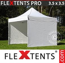 Carpa plegable FleXtents 3,5x3,5m Blanco, Incl. 4 lados