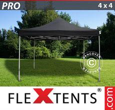 Carpa plegable FleXtents 4x4m Negro
