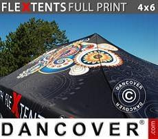 Cubierta de techo impresa con cenefa para carpa plegable FleXtents® PRO 4x6m
