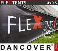 Banner impreso para carpa plegable FleXtents®, 4x0,5m