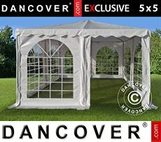 Carpa Pagoda Exclusive 5x5m PVC, Blanco