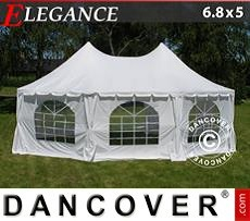 Carpa para Fiestas Elegance 6,8x5m, Blanca