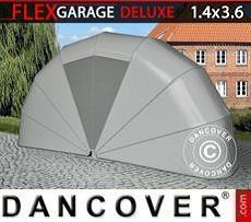 Garaje plegable (MC), 1,4x3,6x1,8m, gris