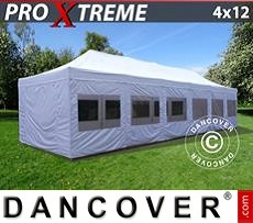 Flextents Carpas Eventos 4x12m Blanco, Incl. lados
