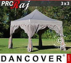 Flextents Carpas Eventos 3x3m Latte/Naranja