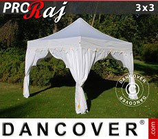 Flextents Carpas Eventos 3x3m Blanco/Oro