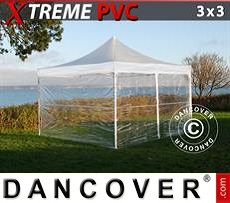 Flextents Carpas Eventos 3x3m Transparente, Incl. 4 lados