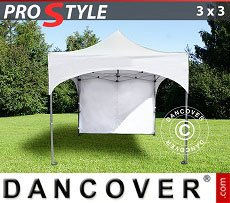 Flextents Carpas Eventos 3x3m Blanco, Incl. 4 lados