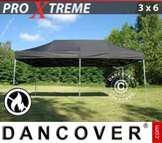 Flextents Carpas Eventos 3x6m Negro, Ignífuga