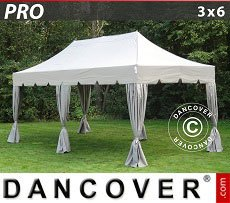 Flextents Carpas Eventos 3x6m Latte, incl. 6 cortinas decorativas