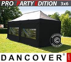 Flextents Carpas Eventos 3x6m Negro, incl. 6 lados