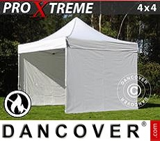 Flextents Carpas Eventos 4x4m Blanco, Ignífuga, Incl. 4 lados