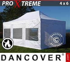 Flextents Carpas Eventos 4x6m Blanco, Ignífuga, Incl. 4 lados