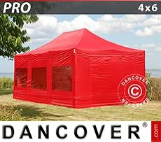 Flextents Carpas Eventos 4x6m Rojo, Incl. 8 lados