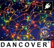 Cadena de luces de LED, 25m, Multifunción, Multi colores, Cable transparente