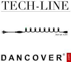 Cadena de luces LED, Set inicial, Tech-Line, 4,5m, Blanco Cálido
