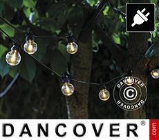 Set de suplementarias de guirnalda de luces LED, Lucas, 3m, Negro/Crema/Blanco...
