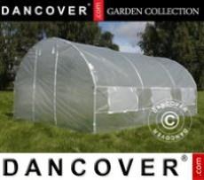 Invernadero de policarbonato 9,13m², 2,48x3,68x2,26m, Aluminio
