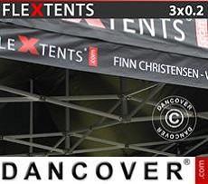 Banner impreso para carpa plegable FleXtents®, 3x0,2m