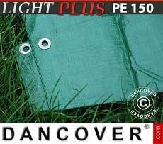 Lona impermeable 10x15m, 150g/m², Verde