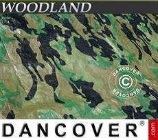 Lona impermeable de camuflaje, Woodland 3x5m, 120g/m²