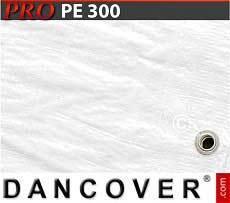 Lona impermeable 6x12m, PE 300g/m², Blanco