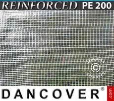 Lona impermeable Reforzado 6x10m, PE 200g/m², Transparente