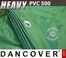 Lona impermeable 5x7m, PVC 500g/m², Verde
