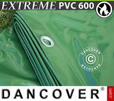 Lona impermeable 8x14m, PVC 600g/m², Verde, Ignífuga