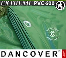 Lona impermeable 8x10m, PVC 500g/m², Verde, Ignífuga