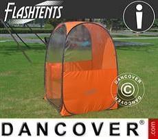 Tienda de espectador plegable FlashTents®, una persona, Naraja/Oscuro gris