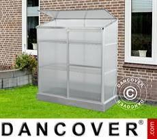 Invernadero de policarbonato 0,58x1,3x1,4m, 0,75m², Aluminio