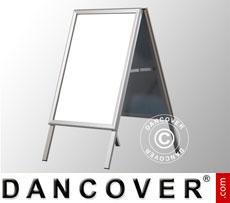 Cavalletto pubblicitario, 54,2x91cm, Alluminio