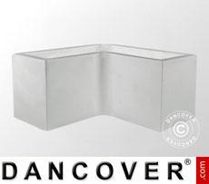 Fioriera Fenice 100x100x45x45,5cm, Bianco, 2 pz