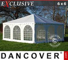 Tendoni Gazebi Party Exclusive 6x6 m PVC, Bianco
