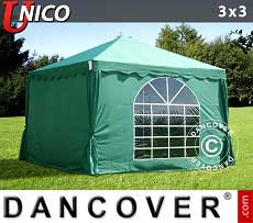 Tendoni Gazebi Party UNICO 3x3m, Verde scuro
