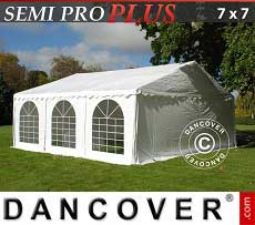 Tendoni Gazebi Party SEMI PRO Plus 7x7m PVC, Bianco