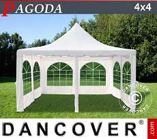 Tendoni Gazebi Party Pagoda 4x4m, Toni di bianco