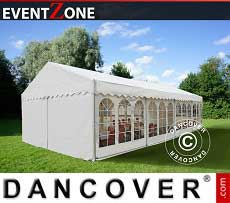 Tendoni Gazebi Party Professionale EventZone 6x12 m PVC, Bianco
