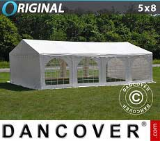 Tendoni Gazebi Party Original 5x8m PVC, Bianco