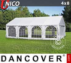 Tendoni Gazebi Party UNICO 4x8m, Bianco